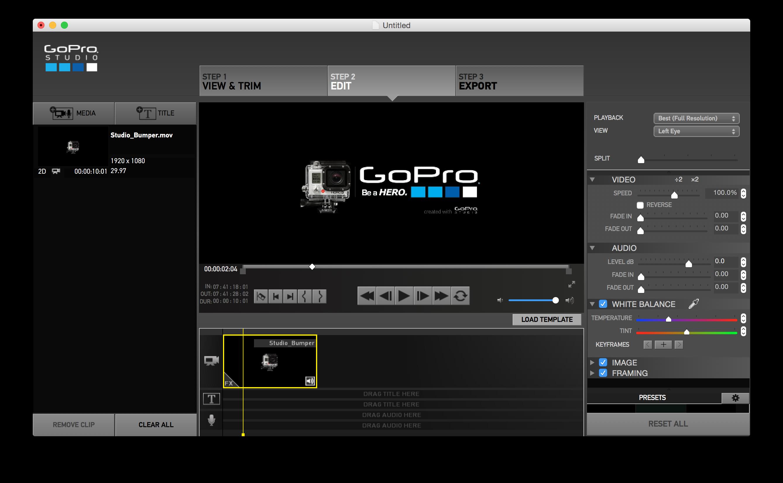 ■GoPro Studio BumperをBlank Templateで使用する方法|Mac 版