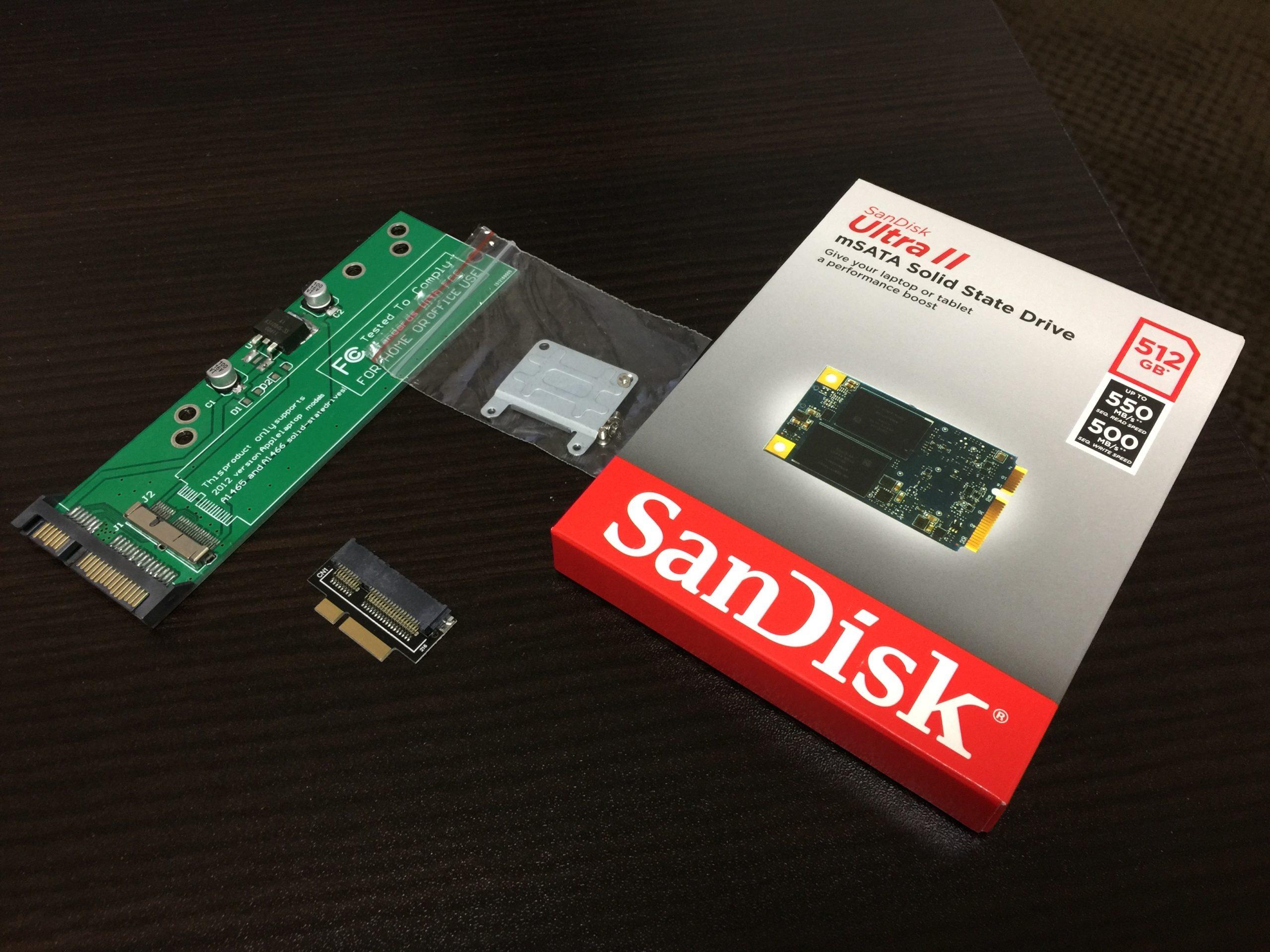 MacBookPro RetinaのSSD容量を増やすには?mSATAのSSD換装で安く増設する方法を解説